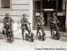 Mailmen with Scooters - circa 1920 - Historic Photo Print