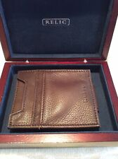 RELIC MENS LEATHER WALLET & CASE