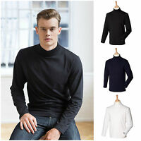 Mens Long Sleeve Turtle Roll Neck Funnel Jumper Pull Over Top S – XXL Free PnP