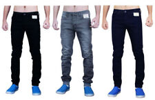 Enzo Mens Skinny Jeans Stretch Cuffed Soft Fabric Slim Fit Pants Trousers