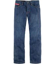 Pantalons jeans bleu textile pour motocyclette