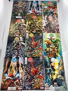 LOT OF 33 AGE OF ULTRON #1-10 / WHAT IF #1-5 COMPLETE SETS + VARIANTS / 1 SHOTS