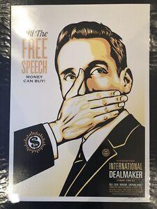 Shepard Fairey. Free Speech. Signed. LTD Edition Of 50. 2018 Print.