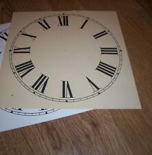 """Paper Clock Dial - 9"""" (M/T) - Roman Numerals - Matt Cream  - Face / Clock Parts"""