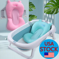 Baby Bath Tub Pad Non-Slip Bathtub Seat Support Mat Newborn Bath Support Cushion