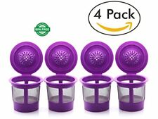 4 Pack Reusable Single K-Cup Coffee Filter Pod for Keurig 2.0 & 1.0 Coffee Ma...