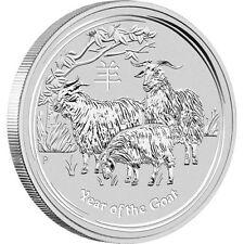 2015 Australian Lunar Series II, YEAR OF THE GOAT, 1oz Silver Brilliant Unc Coin