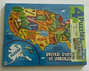 Puzzle Patch 4-Pack Picture Puzzles: United States, Pirates +++!!!  New Sealed