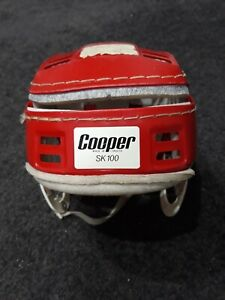 RARE Vintage 1970's COOPER SK100 Stitched Red Helmet Hurling Canada Hockey style
