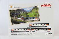 """Marklin 43650 HO """"Gottardo Panorama Express"""" Passenger Car Set"""