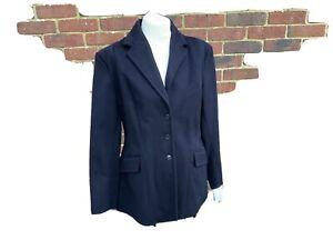 "Superb quality Wool Ladies Midnight  Regency Hunt Jacket Coat size 38"""