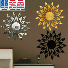 3D Mirror Sun Wall Sticker Art Removable Acrylic Mural Decal Home Room DIY Decor