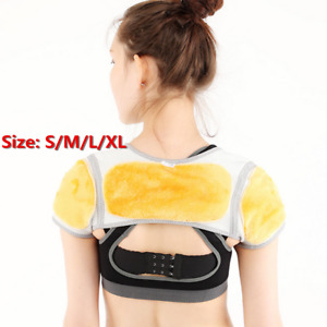 Winter Keep Shoulder Warmer Protect Guard Double Shoulder Brace Support Fleece