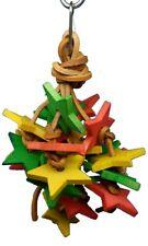 """Lb109 Blocks Knots Colors Bells 6"""" Bird Toy Parrot Conure Tiel Keet"""