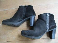JONAK low boots zippés cuir noir à paillettes P 38 TBE | eBay