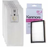 6 Kenmore O/U HEPA Bags 53294 + 1 Kenmore EF-2 Filter 86880 5068 50690 50688