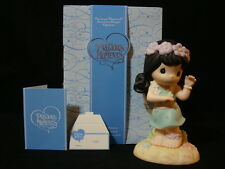 "zl Precious Moments-RARE Hawaiian Exclusive Figurine ""Aloha"""
