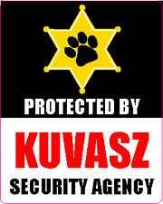 Protected By Kuvasz Security Agency Sticker