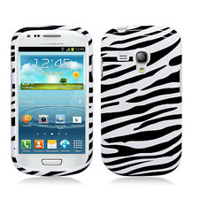 For AT&T Samsung Galaxy S III S3 MINI i8190 HARD Case Cover Zebra Accessory