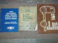 1982 82 GMC LIGHT DUTY TRUCKS Service Repair Shop Manual Set FACTORY BOOKS 82