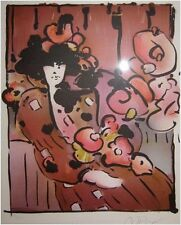 "Max, Peter   ""Brown Lady With Vase""    Print   MAKE OFFER"
