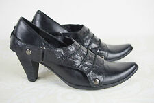 Escarpins Boots UME Un Matin d'Eté Cuir Noir T 36 TTBE