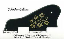ES-295 ES-175 Black & Gold Floral Pickguard WP-90 Pickups for Gibson Project NEW