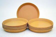 "Set of 12, Carlisle Weaveware Tan Round Plastic Serving Basket-12""D,1.8 Qt."