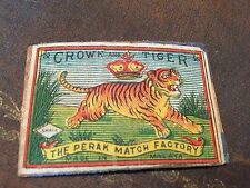 old match box top - crown and tiger