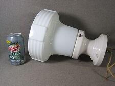 Lamp Shade Milk Glass Deco w. Porcelain Ceiling Fixture Antique Excellent Cond.