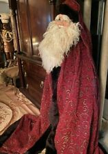 Dan Dee Santa 9 Foot Tree Topper Large Face and Long Red Ornate Robe : Vintage