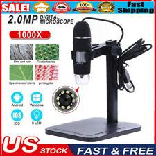 8 Led 1000x Usb Digital Microscope Endoscope Magnifier Video Camera Lift Stand
