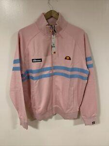 Ellesse Rimini Full Zip Track Top Pink Size Large
