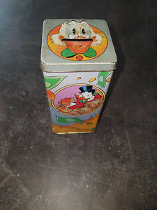 Extremely Rare! Disney Scrooge McDuck Sport of Tycoons Old Metal Tin Coin Bank
