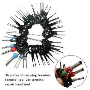 36Pcs Wire Terminal Plug Connector Puller Extractor Kit Motorcycle Removal Tool