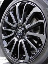 "Range Rover 2013+ L405 OEM 22"" x 9.5"" 7 Spoke Wheel Set 4 Stealth Pack Black New"