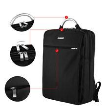 17 Pollici Zaino Casuale Per Scuola Lavoro PC Notebook Impermeabile (Nero)