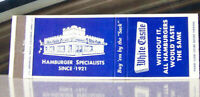 Vintage Matchbook Cover H6 New York Jersey Ohio White Castle Burger Specialists