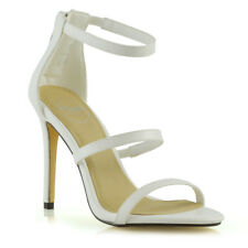New Womens High Heel Strappy Sandals Ladies Zip Party Stiletto Shoes Size 3-8