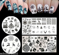 4pcs/set Born Pretty Christmas Nail Art Stamping Template Image Plates DIY