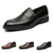 Mens Dress Formal Leather Shoes Slip on Flats Pointy Toe Party British Business