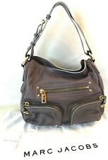 MARC JACOBS POCKET HOBO GRAY LEATHER BAG $1295 RARE! MADE IN ITALY