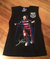 ad483d90917 NEW FC BARCELONA SOCCER CLUB LIONEL MESSI YXL BLACK SLEEVELESS SHIRT SHIPS  FREE