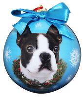 BOSTON TERRIER CHRISTMAS BALL ORNAMENT DOG HOLIDAY XMAS PET LOVERS GIFT