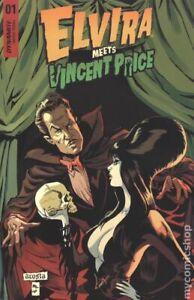 Elvira Meets Vincent Price 1A Acosta VF 2021 Stock Image