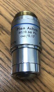 Reichert Plan Achro 40x .66 infinity 0.17 PH Microscope Objective Cat. 1744
