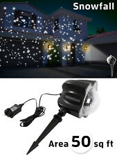 Outdoor Snowfall Light Projector Snow Effect Xmas Laser Christmas LED House Lamp