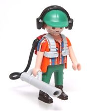 Playmobil Figure Mystery Series 10 Dollhouse Landscaper Leaf Blower 6840 NEW