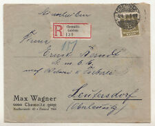 Lettre R Chemnitz - Gablenz Max Wagner 1924 Inscrire ! (B7