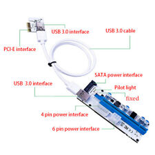 USB 3.0 1cm PCI-E Express 1x to16x Extender Powered Riser Adapter Card Cable